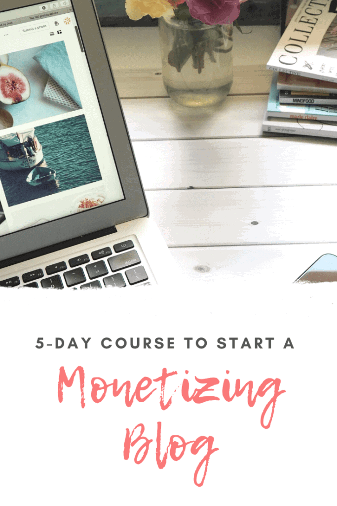 Free Email Course to starting a blog