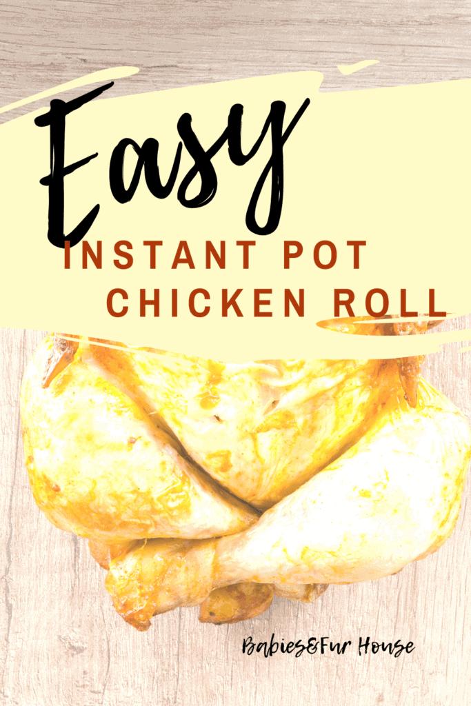 Easy Instant Pot Chicken Roll #dinner #dinnerideas #recipes #easyrecipes #quickrecipes
