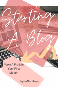 Starting A Blog: Make A Profit In Your First Month #Blogging #ProfitableBlogging #bloggingforbeginners