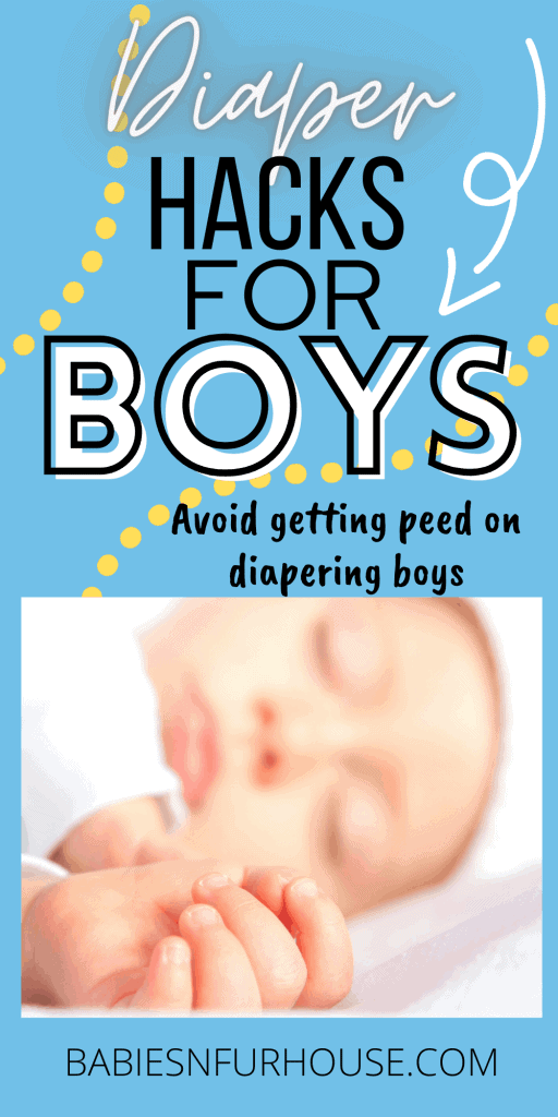 Diaper changing hacks for boys