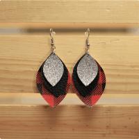 buffalo plaid earrings