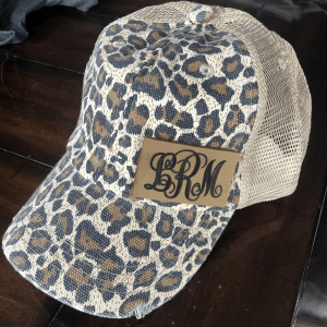 Monogram Cheetah Print High Pony Cap