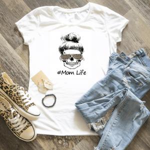 Mom Life Skull SUBLIMATION TRANSFER